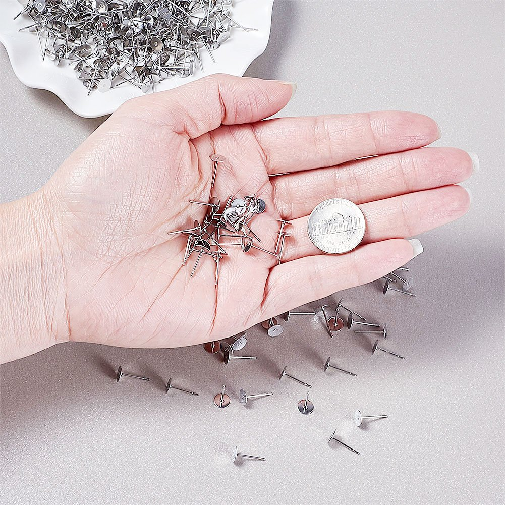 Kissitty 120pcs//box Nickel Free 6 Colors French Style Earring Hooks 15.5mm Fish Earwires with Coil