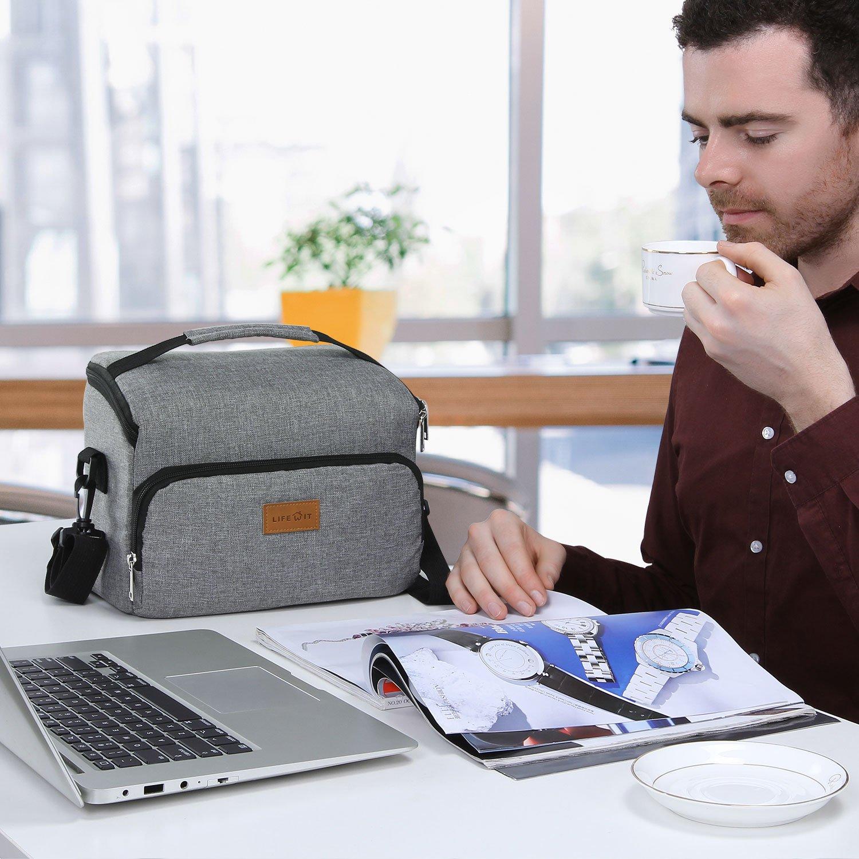 Gris 8L Sac /à D/éjeuner Lunch Bag Lifewit Sac Isotherme Sac de Repas