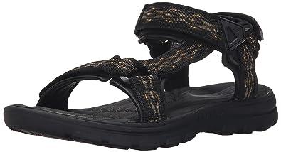 Skechers USA Men's Bravelen Drito Flat Sandal,Black,7 ...