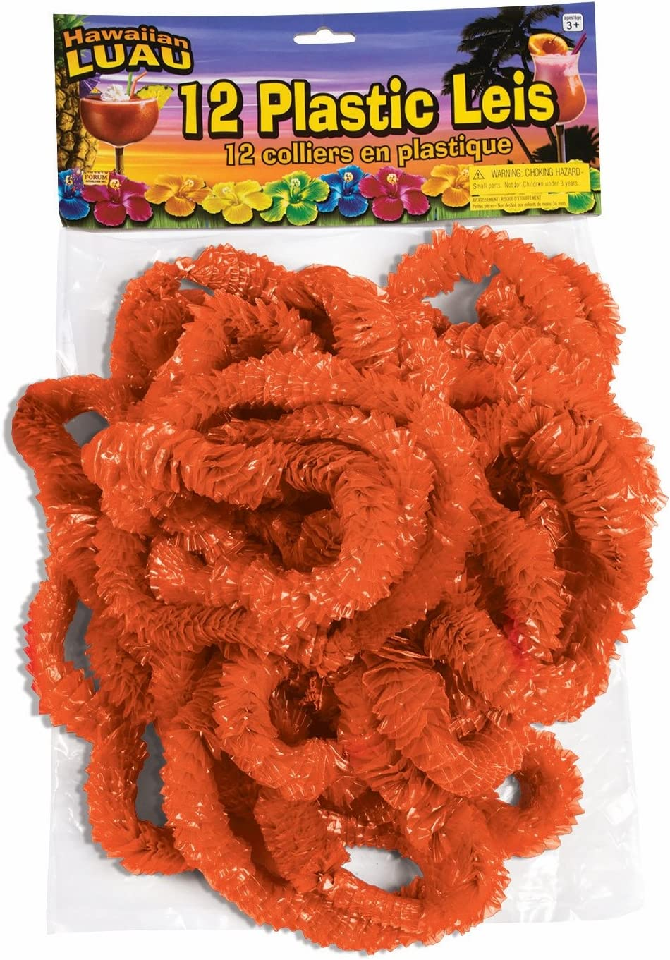School Spirit Orange Leis 32 x 1 50 Pack