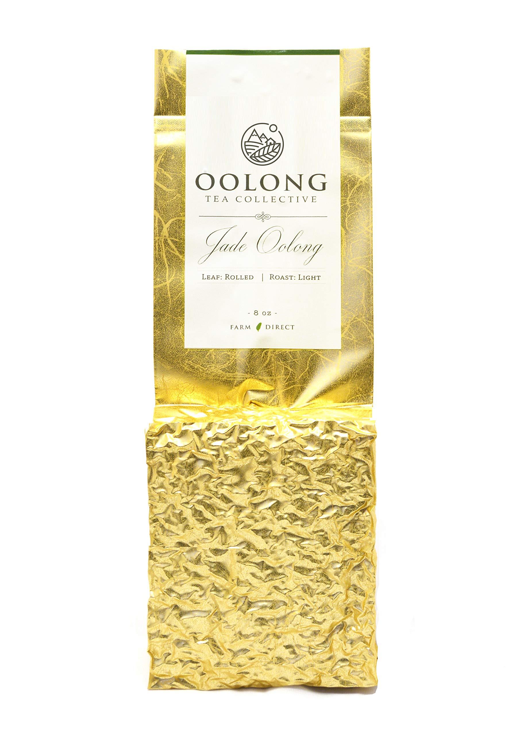 Jade Oolong Tea - 2019 Fresh Harvest - Natural Loose Leaf Tea - No Additives - 100% Taiwan Farm Direct by Oolong Tea Collective (8oz)