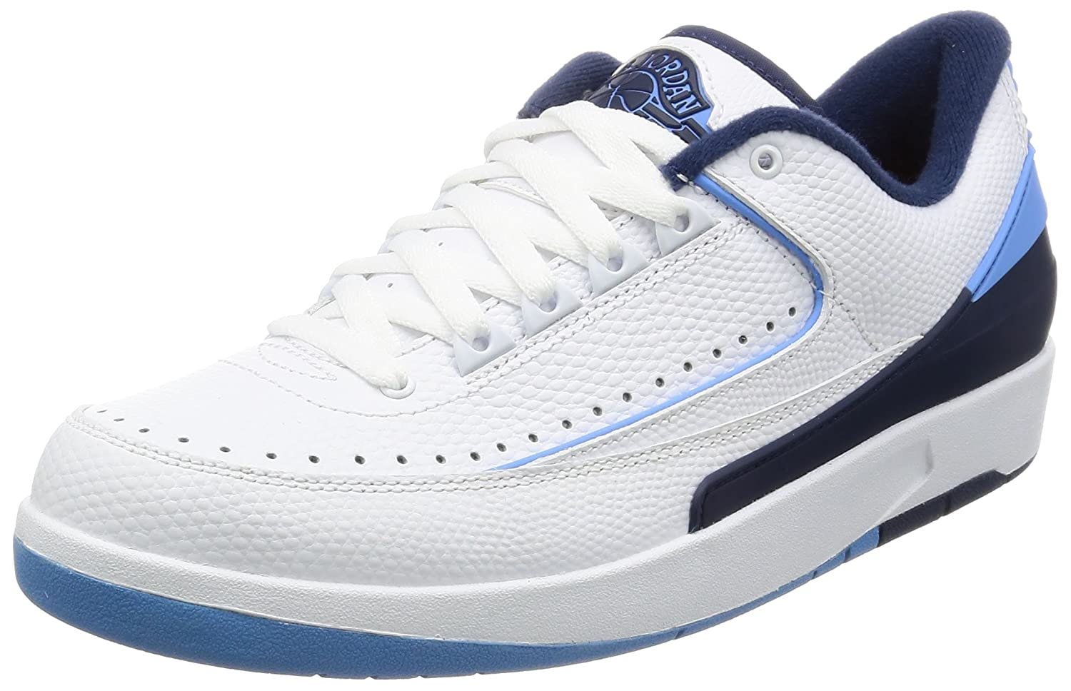 new style 8c6a1 3df95 Amazon.com   NIKE Air Jordan 2 Retro Low 832819-107 White Blue Leather  Men s Basketball Shoes (Size 10.5)   Basketball