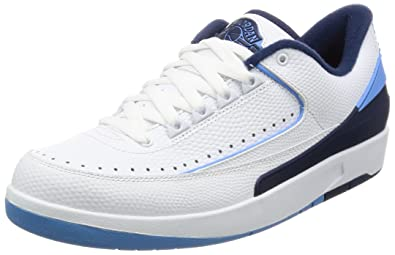 on sale ac877 d8a51 Jordan Men Air Jordan 2 Retro Low (14 US, white   university blue)