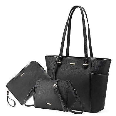 c622610154a642 Amazon.com: LOVEVOOK Women Purses and Handbags Chic Crossbody Bag Hobo 3pcs  Large Capacity Black: Shoes