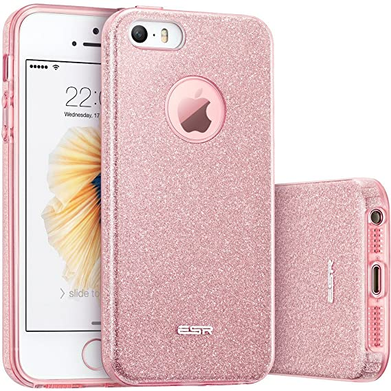 amazon com esr iphone 5s case, iphone se case, iphone 5 caseesr iphone 5s case, iphone se case, iphone 5 case,glitter sparkle bling