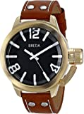 Breda Men's 1642C Watch with Brown Genuine Leather Band