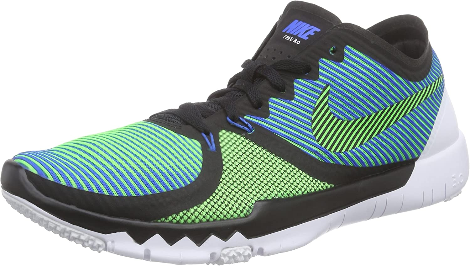 Nike Mens Free Trainer 3.0 V4, BLACK GREEN STRIKE-SOAR-WHITE, 9 M US
