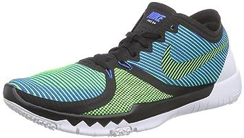 timeless design a7ada 899fb Nike Herren Free Trainer 3.0 V4 Hallenschuhe Mehrfarbig (Black/Green  Strike-Soar-