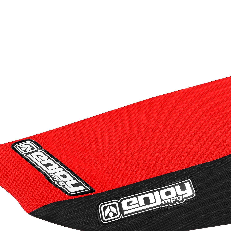 Red Top Full Gripper Seat Cover Enjoy MFG 2013-2015 MSX 125 GROM Black Sides