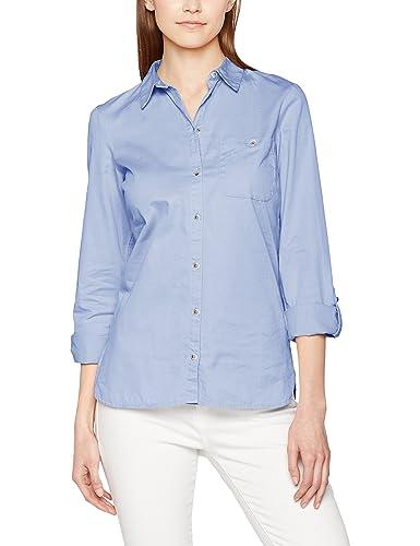Dorothy Perkins Curve Hem Poplin Twill, Camisa para Mujer