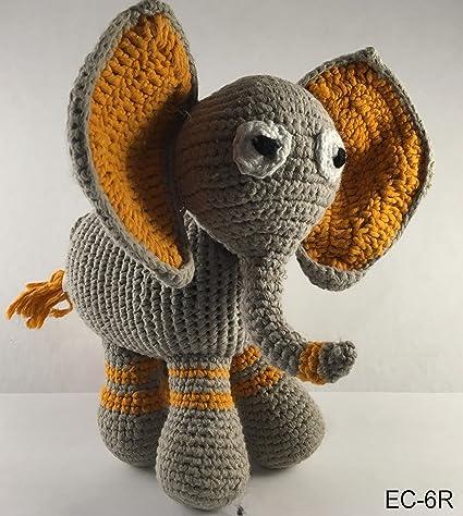 Sindibaba Crochet Cuddly Toy Rattle elephant JUMBO - TakaTomo.de | 474x425