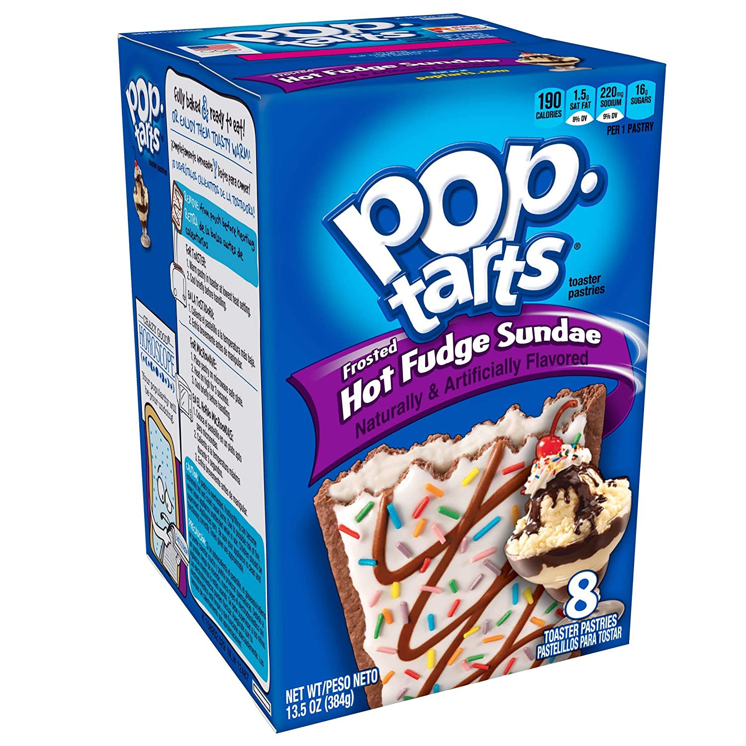 Pop-Tarts Breakfast Toaster Pastries, Frosted Hot Fudge Sundae Flavored, 13.5 oz, 8 Count(Pack of 8)