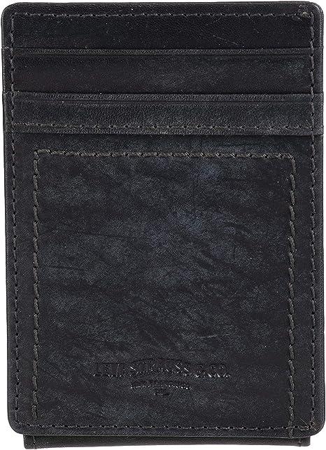 Levi/'s Men/'s Leather Magnetic Money Clip Front Pocket Wallet