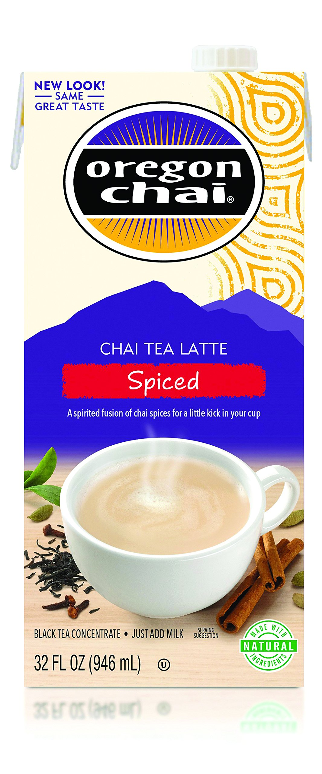 Oregon Chai Chai Tea Latte Concentrate, Spiced, 32 Ounce Box (Pack of 6)