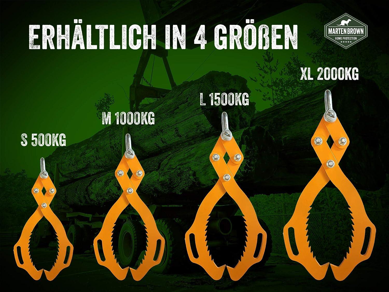 R/ückezange Gr/ö/ße XL Verladezange Holzzange Greifer Schleppzange Forstzange Gr/ö/ße XL 1600kg