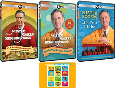 Amazon Com Mister Rogers Neighborhood Original Pbs Tv Series Complete 60 Episodes And Tribute Dvd Collection With Bonus Art Card Fred Rogers Movies Tv