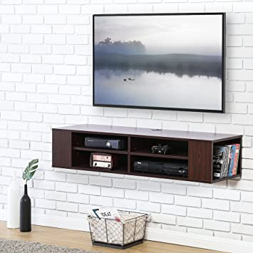FITUEYES Wall Mounted Audio Video Console TV Stand DS212001WB