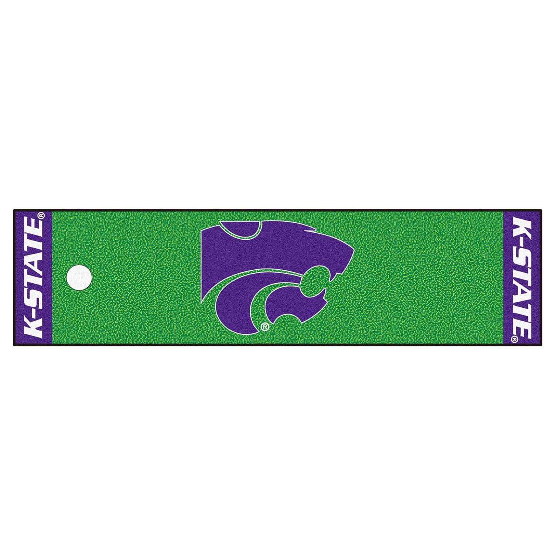 NCAA カンザス州立大学 ワイルドキャッツ パッティンググリーンマット ゴルフアクセサリー   B07F1TS535