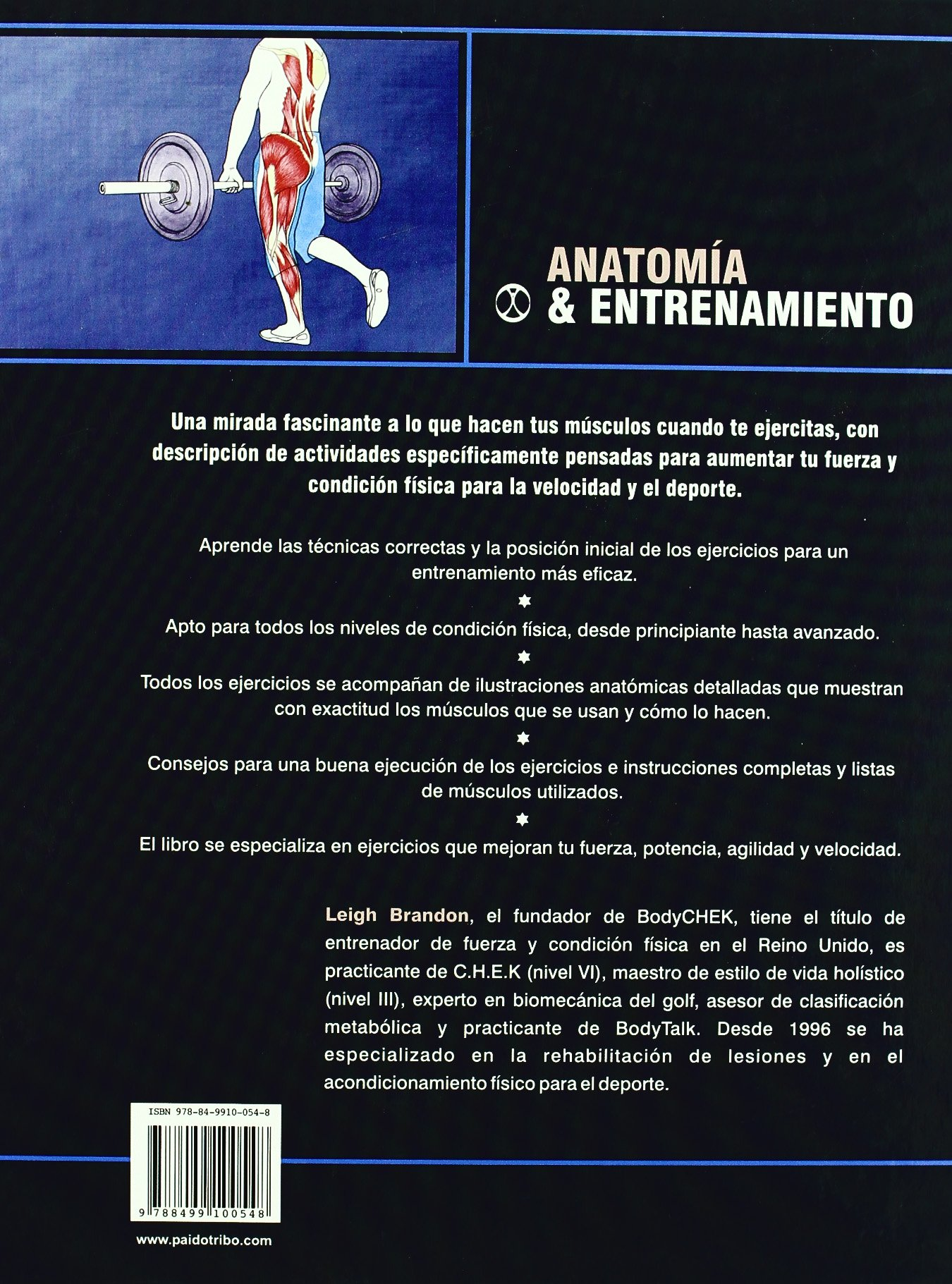 ANATOMÍA & ENTRENAMIENTO (Color) (Deportes): Amazon.es: Leigh ...