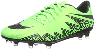 93f9803f1d14 Nike Mens Hypervenom Phatal II Fg Green Strike Black Black Soccer Cleat 8  Men US  Buy Online at Low Prices in India - Amazon.in