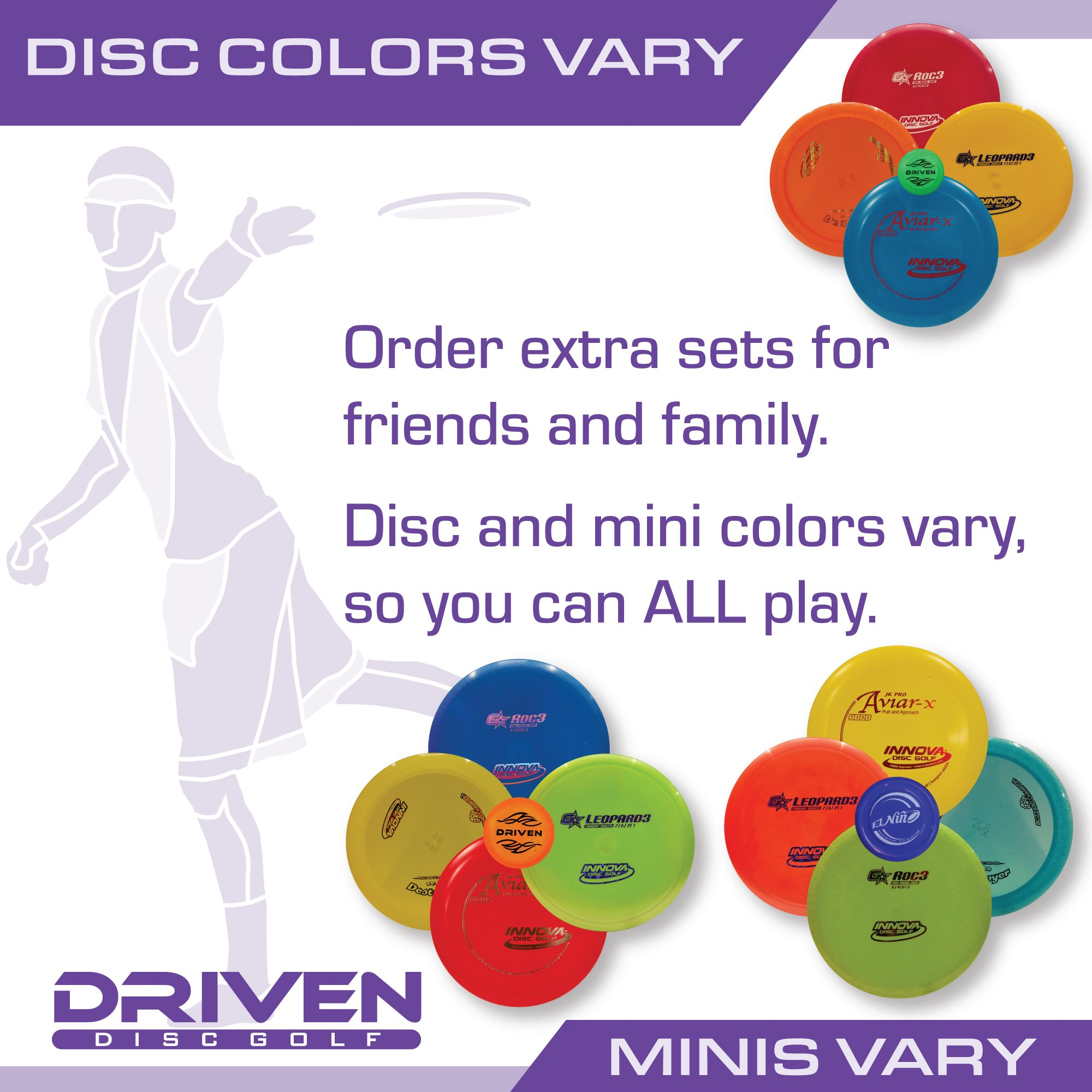 Innova Disc Golf Advanced Players Pack | Premium 4 Disc Set - for Intermediate and Experienced Players - 1025 Putting Game - Flight Reference Card - Driven Mini Marker | Disc Colors Vary by Driven Disc Golf (Image #5)