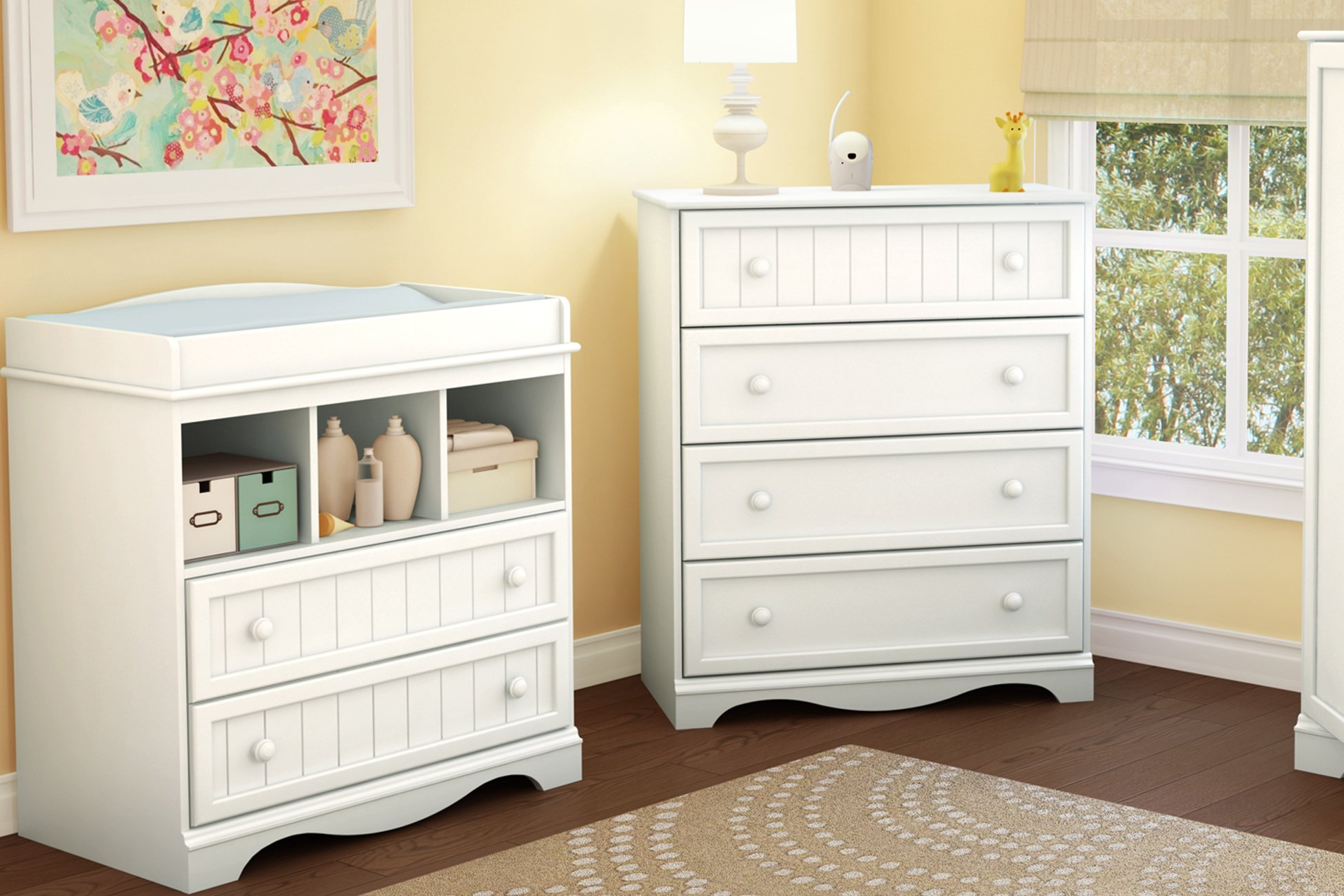 South Shore  Savannah 2-Drawer Changing Table, Pure White by South Shore (Image #4)