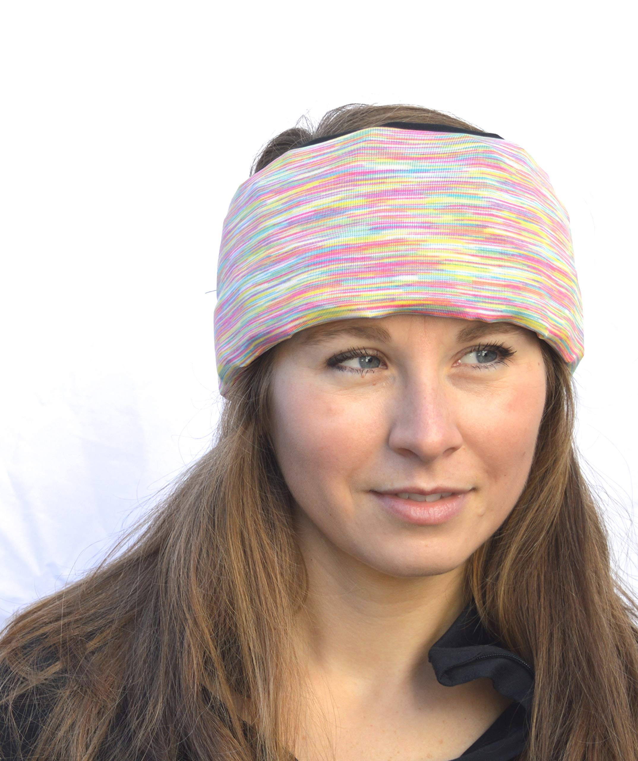Headache Hat- GO (Space Dye) Ice Pack for Migraine Headaches and Tension Relief , Extra Ice Mat Included