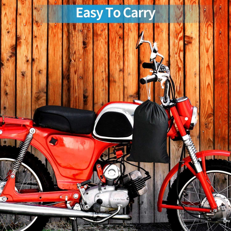 Suzuki Housse de moto /Étanche Tissu 190T Oxford de housse de protection pour moto avec des trous de serrure anti-poussi/ère de moto pour Harley-Davidson 245 * 105 * 125 cm Honda