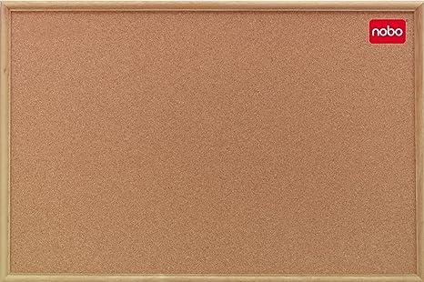 Bacheche Per Ufficio : Nobo classic bacheca in sughero con telaio in legno 900 x 600 mm