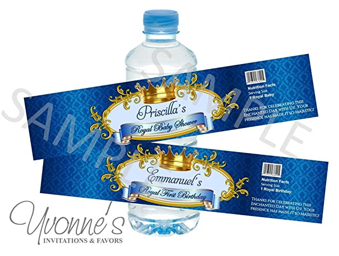 Amazon Com Royal Baby Boy Prince Water Bottle Wrappers Royal Blue