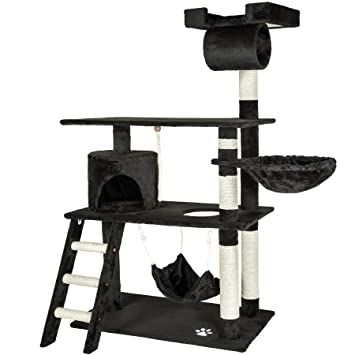 TecTake Rascador para Gatos Árbol para Gatos Sisal Juguetes 141 cm (Negro | no. 401855): Amazon.es: Hogar