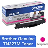 Brother Genuine TN227M, High Yield Toner Cartridge, Replacement Magenta Toner, Page Yield Up to 2,300 Pages, TN227…