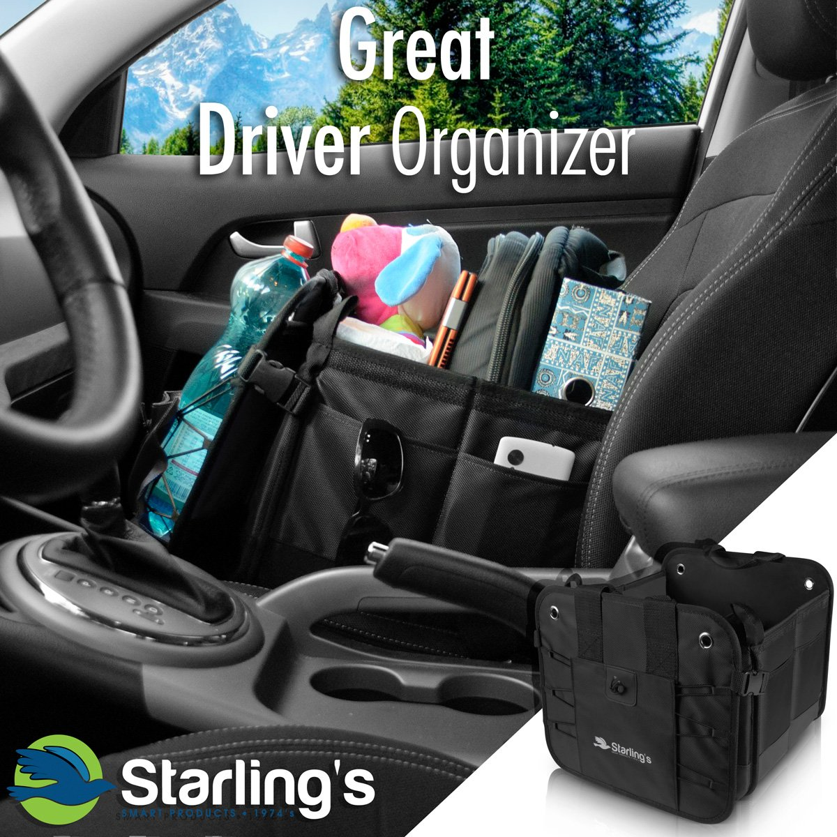 Starlings Car Boot Organiser Bags Storage Box For Auto Antislip Collapsible Waterproof Super Strong/&Durable SUV-Adjustable Compartments Truck Car Trunk Organiser Blue: Tidy Organization