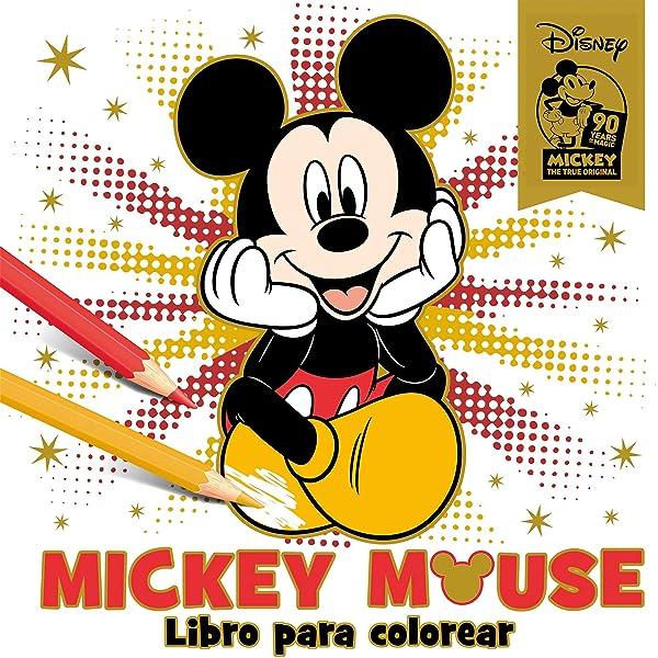 Mickey Mouse Libro Para Colorear Especial 90 Aniversario Disney