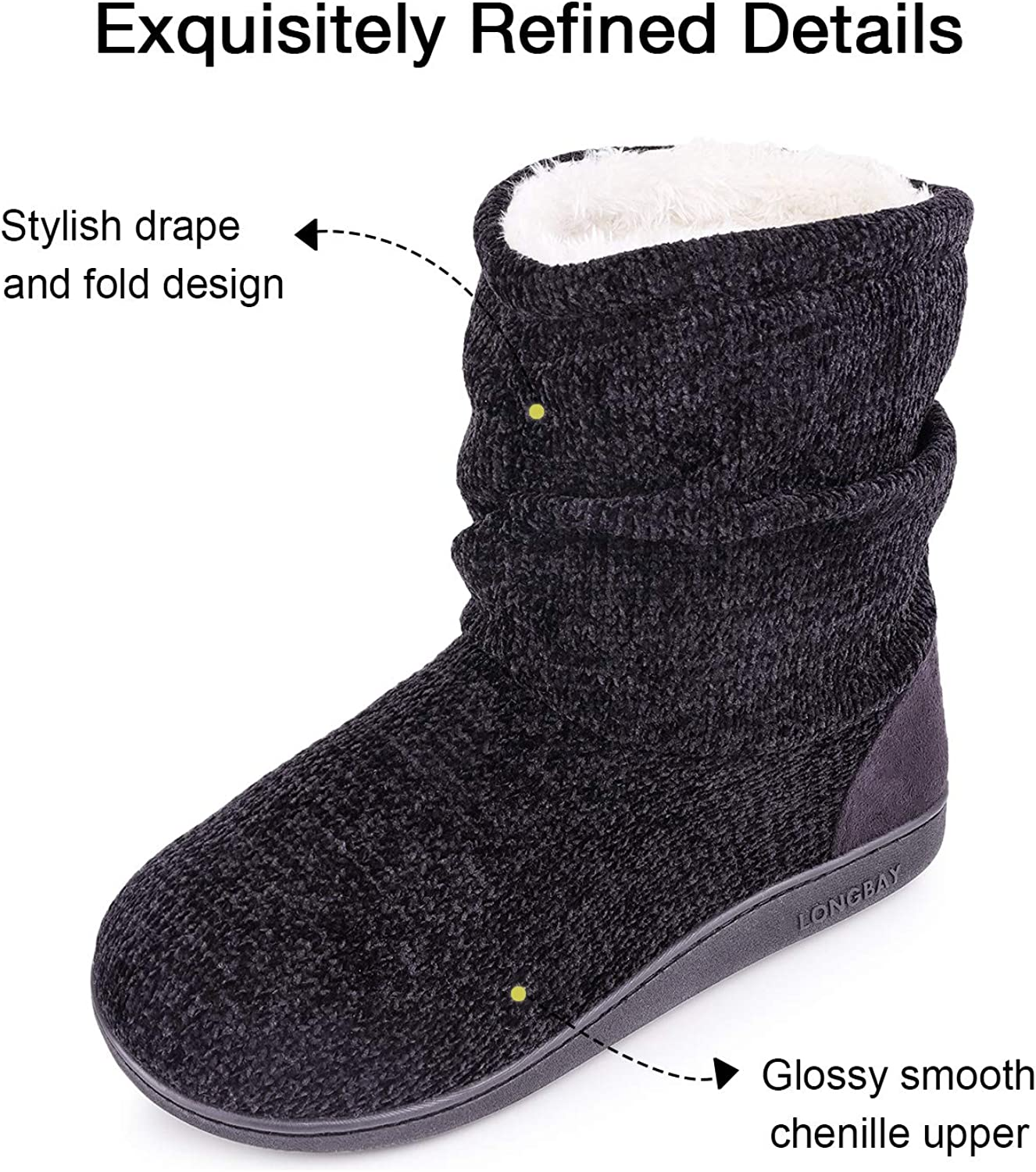 Women/'s Soft Slippers Booties Size 35-38 39-42 6-8 3-5 Christmas Present