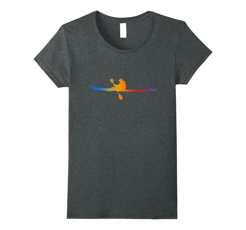 Love Kayak Shiluette Canoeist T-Shirt Kayaker Paddler Tee