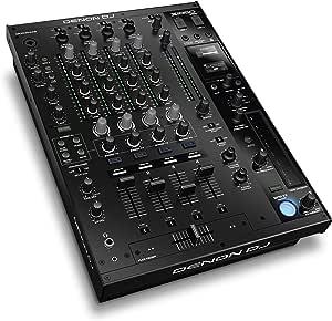Denon DJ X1850 PRIME – Professional 4 Channel Digital DJ Mixer With USB, Digital and Switchable Phono/Line Inputs Plus Built-In DJ FX