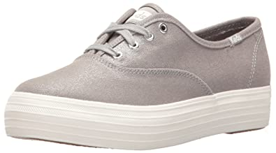 Womens Triple Met Canvas Low-Top Sneakers, Navy, US Keds