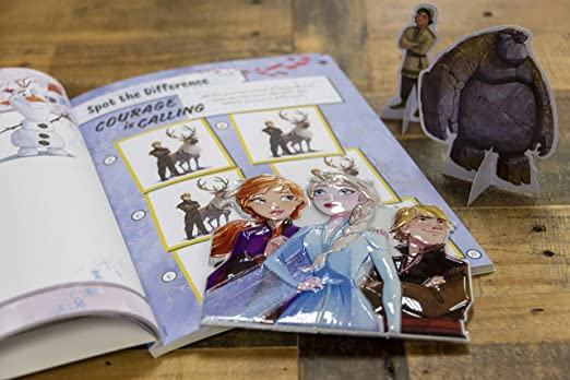 Disney Princess Elsa and Anna Sticker Book with Character Cardstock