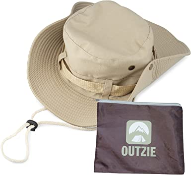 Fishing Gardening Wide Brim Packable Booney Sun Hat Lightweight Cotton