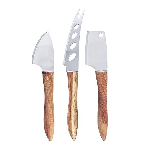Swissmar - Juego de cuchillos de acacia (3 piezas), color ...