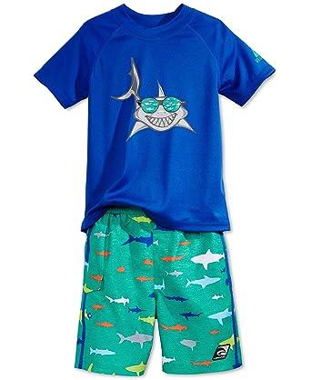 2b3b448036 Amazon.com: LAGUNA Baby Boys 2-Pc. Rash Guard & Swim Shorts Set (2T ...