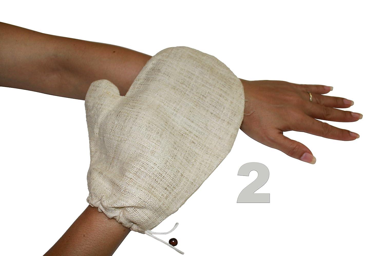 Gantes de exfoliación natural de cáñamo (paquete de 2) Siam Direct