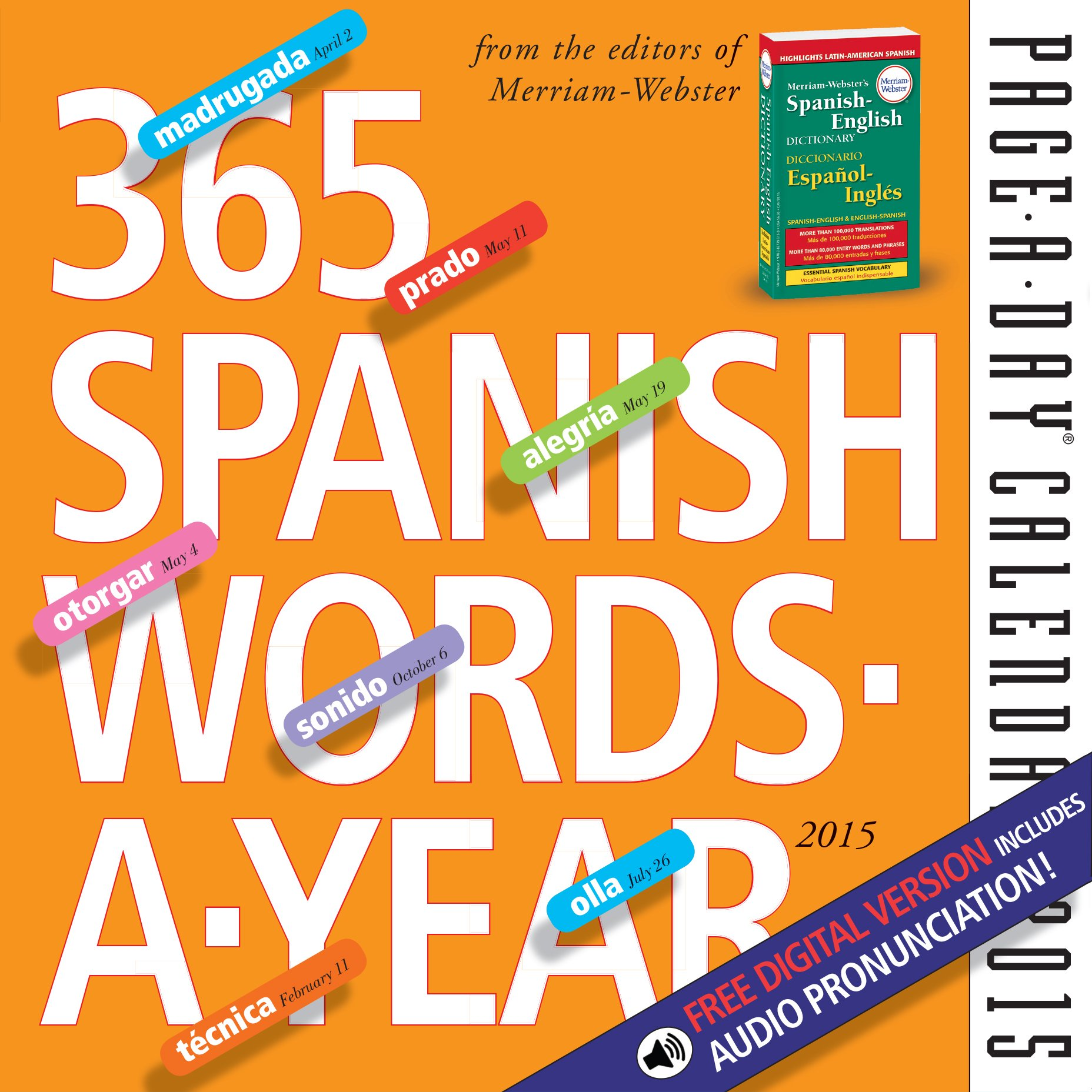 Amazon.com: 365 Spanish Words-A-Year 2015 Page-A-Day Calendar (9780761179511): Merriam-Webster: Books