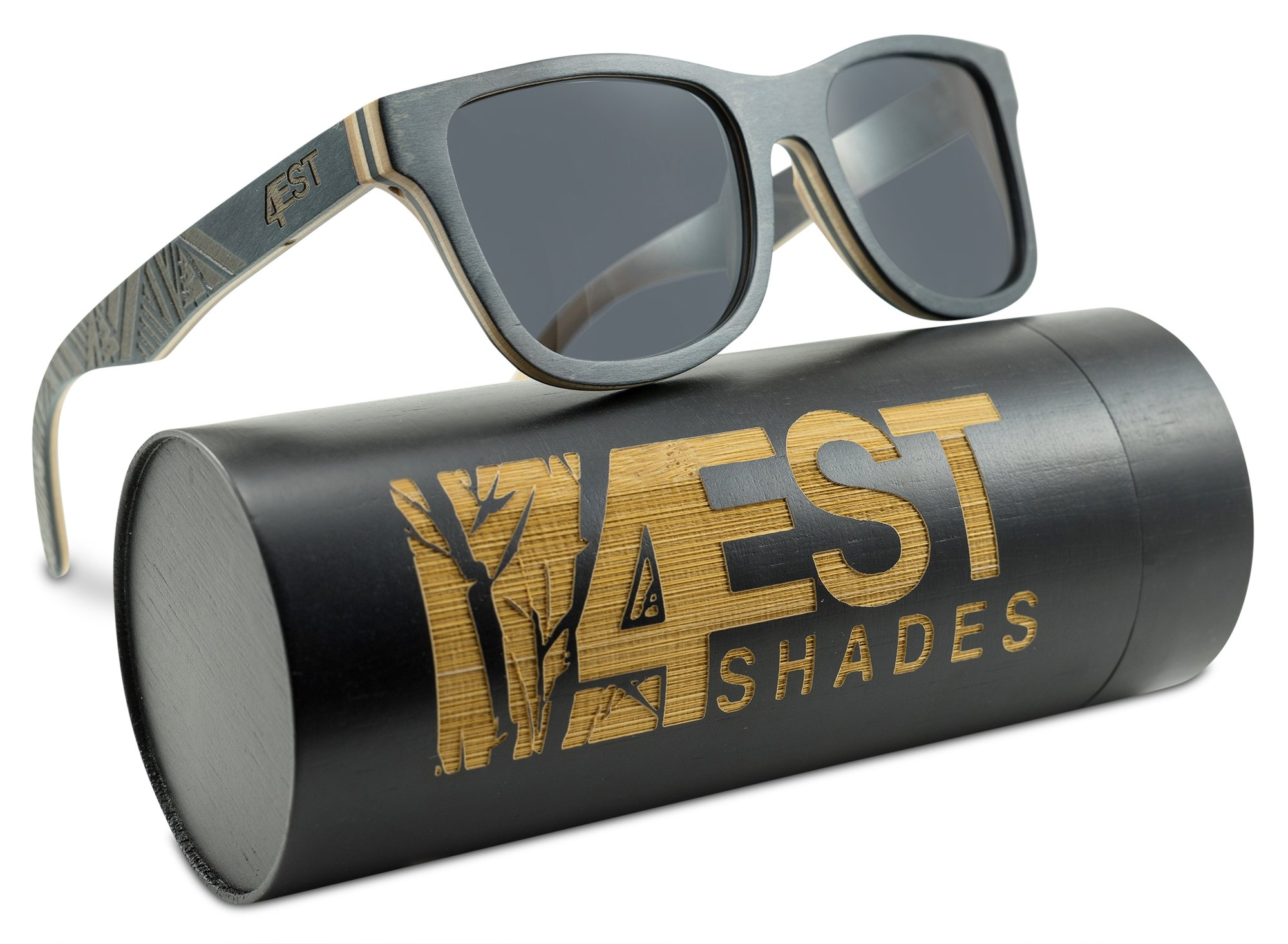 Wood Sunglasses made from Maple -100% polarized shades that float