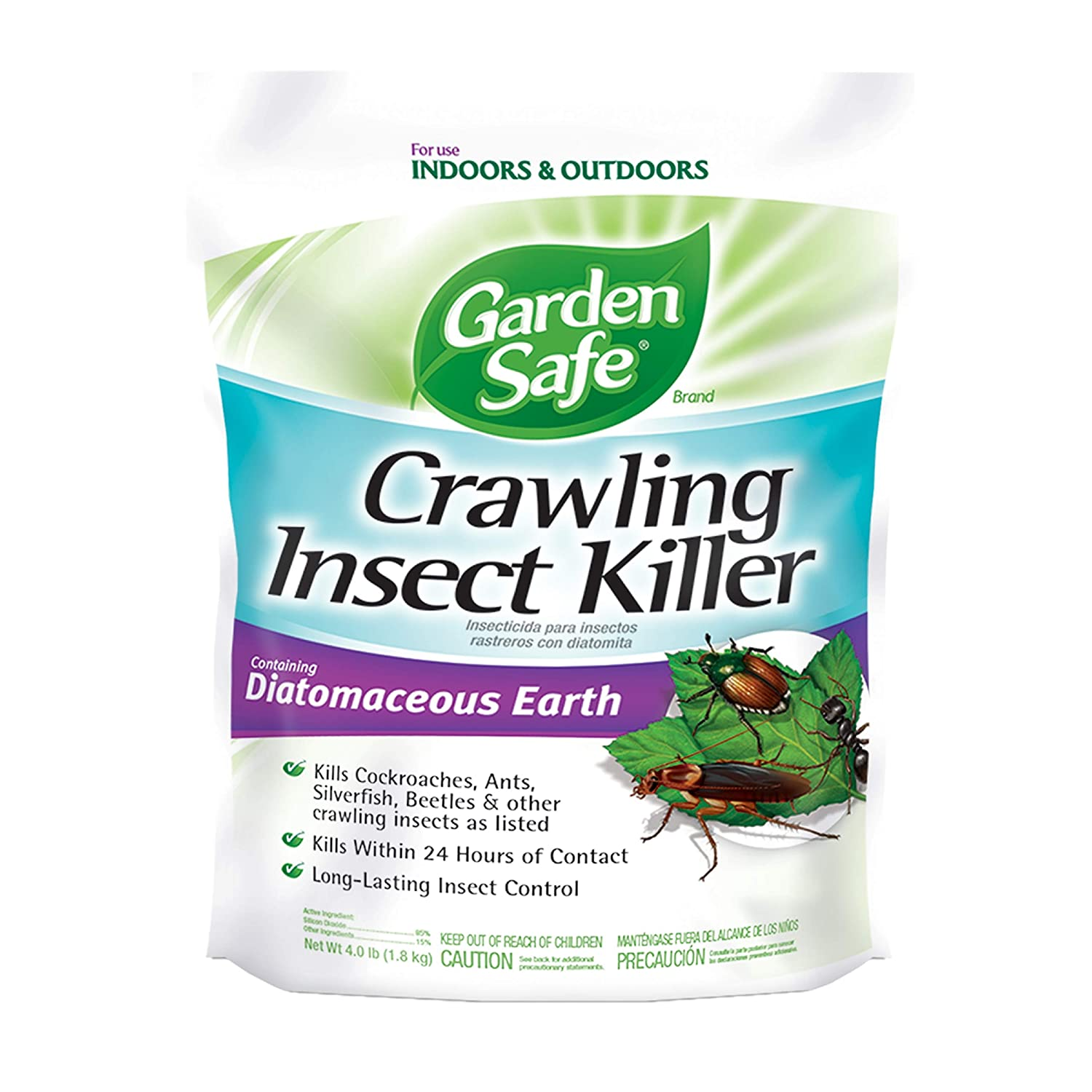 Amazon.com : Garden Safe Brand Crawling Insect Killer with Diatomaceous  Earth, 4-Pound, 6-Pack : Garden & Outdoor