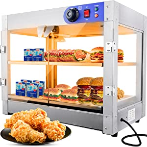 2-Tier 110V Commercial Countertop Food Pizza Warmer 750W 24x14x19