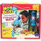 Educational Insights Hot Dots Jr. Let's Master Kindergarten Math Set with Ace Pen