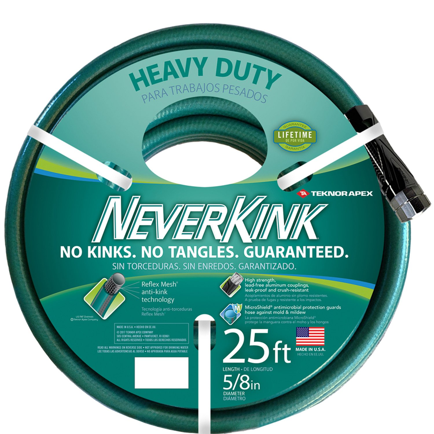 75fdc1bce79e Teknor Apex NeverKink 8615-25, Heavy Duty Garden Hose, 5/8-Inch by 25-Feet