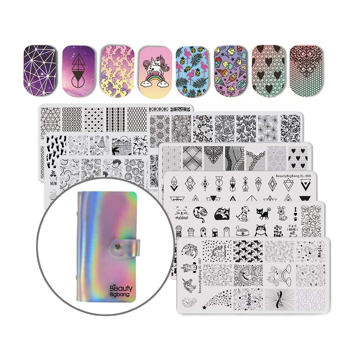 Amazon.com : NICOLE DIARY 72 Slots Nail Stamping Plate Case ...